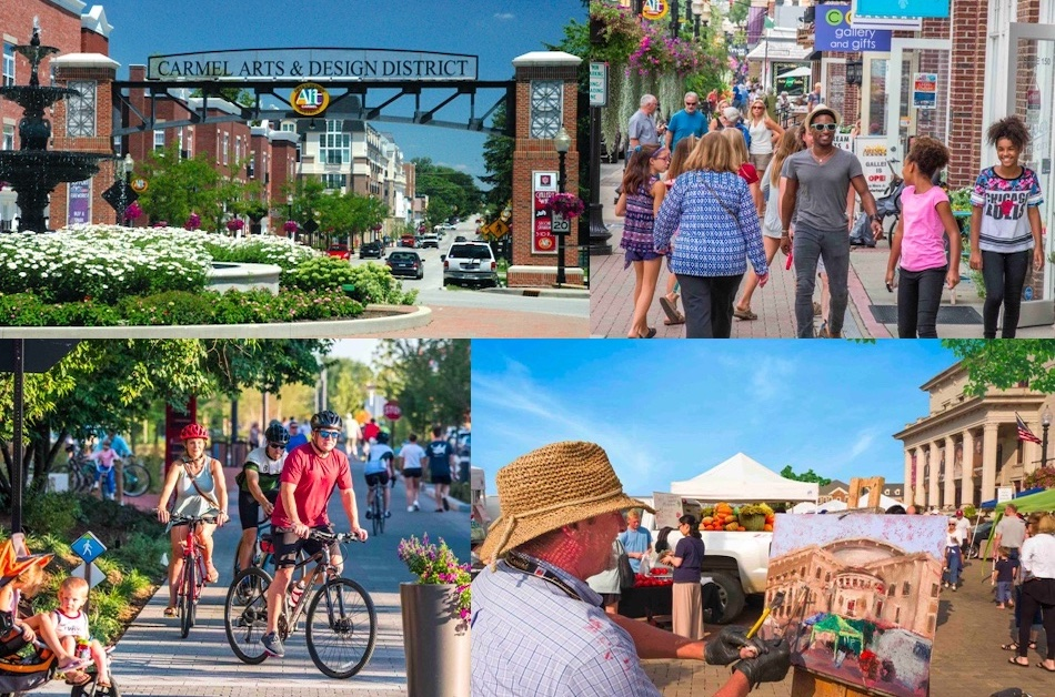 Scenes from our beautiful host city of Carmel, Indiana, including the spectacular Palladium Concert Hall, site of our plenary and breakout events, and the adjoining Farmers' Market.